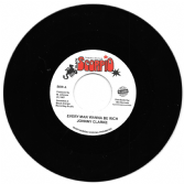 SALE ITEM - Johnny Clarke - Every Man Wanna Be Rich / version (Black Scorpio / TRS) EU 7""
